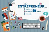 Постер, плакат: Entrepreneur Design And Flat Design Illustration Concepts For Business Analysis