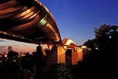 stock photo of faber  - Singapore Henderson wave bridge shine at dusk - JPG