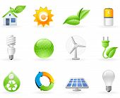 Ecology and Green Energy icon set