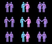 Modern Couples Pictograms