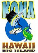 Sailfish mahi-mahi and yellow fin tuna