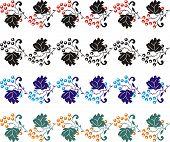 Elemento de Design, canto flor 05