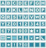 Alphabet - Caps numeric and symbols