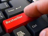 Постер, плакат: Bestseller Concept on Red Keyboard Button