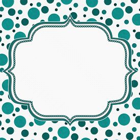 picture of stitches  - Teal and White Polka Dot Frame with Embroidery Stitches Background with center for your message - JPG