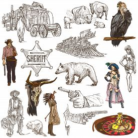 picture of freehand drawing  - INDIANS and WILD WEST  - JPG