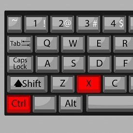 stock photo of combinations  - Combination of buttons to cut - JPG