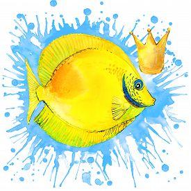 stock photo of sea fish  - sea fish T - JPG