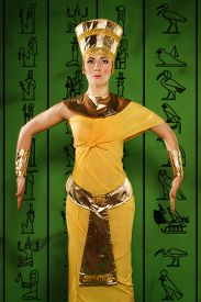 image of cleopatra  - Portrait of beautiful egyptian woman stylized into Cleopatra - JPG