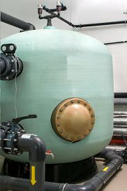 pic of disinfection  - big tank for water disinfection and purification - JPG