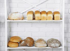 pic of bakeshop  - Bread on shelves in store - JPG