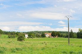 foto of hamlet  - French landscape with hamlet in Limousin - JPG