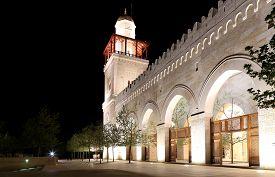 image of amman  - King Hussein Bin Talal mosque in Amman  - JPG