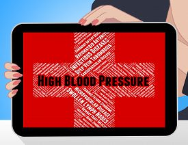 stock photo of hypertensive  - High Blood Pressure Meaning Poor Health And Hypertension - JPG