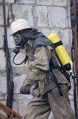 Fireman In Respirator