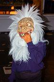 Kid With Halloween Mask