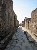 Ancient Roman Narrow Road In Pompei poster