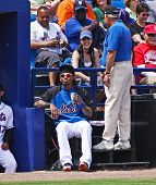 PORT ST. LUCIE, FLORIDA - MARCH 24: NY Mets shortstop Jose Reyes at a spring training game after bei