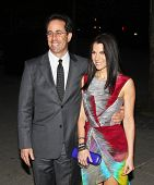 NEW YORK - APRIL 20: Comedian Jerry Seinfeld and wife Jessica arrive at New York State Supreme Court