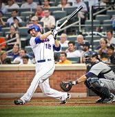 FLUSHING - JUNE 23: New York Mets rightfielder Jeff Francouer bats against the Detroit Tigers on Jun