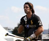 NEW YORK - MAY 30: Argentine polo player Nacho Figueras competes in the Veuve Clicquot Manhattan Pol