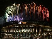 NEW YORK - JULY 5: Pyrotechnics display at Citi Field ballpark on July 5, 2010 in Flushing, New York