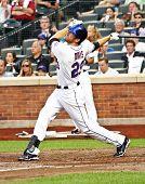FLUSHING - JULY 30: New York Mets first baseman Ike Davis plays baseball at CitiField Park against the Arizona Diamondbacks on July 30, 2010 in Flushing, New York.