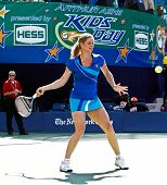 FLUSHING, NY - AUGUST 28: Tennis athlete Kim Clijsters attends Arthur Ashe Kids' Day at the Billie Jean King National Tennis Center on August 28, 2010 in Flushing, New York.
