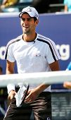 FLUSHING, NY - AUGUST 28: Tennis athlete Novak Djokovich attends Arthur Ashe Kids' Day at the Billie
