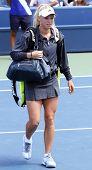 FLUSHING, NY - SEPTEMBER 4: Caroline Wozniacki arrives for womens singles at the US Open Tennis Tournament at the Billie Jean National Tennis Center on September 4, 2010 in  Flushing, NY.