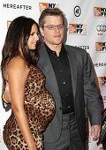 NUEVA YORK - el 10 de octubre: Actor Matt Damon asiste a la Premier de