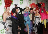 NEW YORK - OCTOBER 29: The cast of Queen of the Dessert attends the 15th Annual Bette Midler's New York Restoration Project's Hulaween at the Waldorf-Astoria Hotel on October 29, 2010 in New York City.