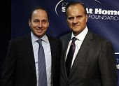 NEW YORK - NOV 11: Brian Cashman and Joe Torre attends the 8th Annual Joe Torre Safe at Home Foundat
