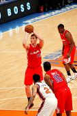 NEW YORK - FEBRUARY 9: Los Angeles Clippers guard Blake Griffin (32) shoots a free throw against the