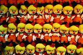 Happy Toy Clowns In A Row poster