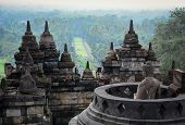 Постер, плакат: The Temple Of Borobudur On Java In Indonesia