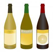 botellas de vino (texto: Brush Script MT Italic)