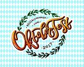 Vector Illustration Of Oktoberfest Logotype poster