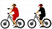 ilustração de pilotos de moto