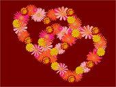 flower love hearts