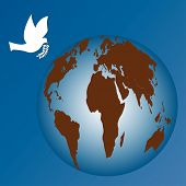 world with peace dove vector