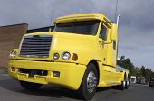 super truck american style in yellow color