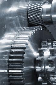 stock photo of mechanical engineer  - new gears and mechanical - JPG