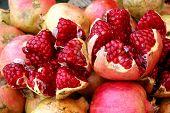 Open Pomegranates At The Sucre Market, Bolivia poster