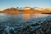 Beautiful Mountains Range In Stoovarfjorour The Fisherman Village In East Fjord Of East Iceland Duri poster