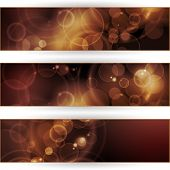 Vector header, banner set. Overlying semitransparent circular shapes forming a bokeh background with space for your text. Can be used on websites or flyers. EPS10