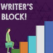 Word Writing Text Writer S Is Block. Business Concept For Condition Of Being Unable To Make A Piece  poster