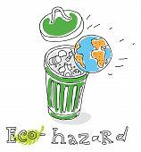 Eco hazard, vector drawing