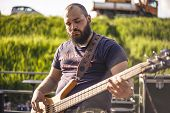 Portrait Of A Bearded Bass Player #2 poster