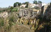 View Of The Village Of Pitigliano, An Etruscan Town In Tuscany, Italy.